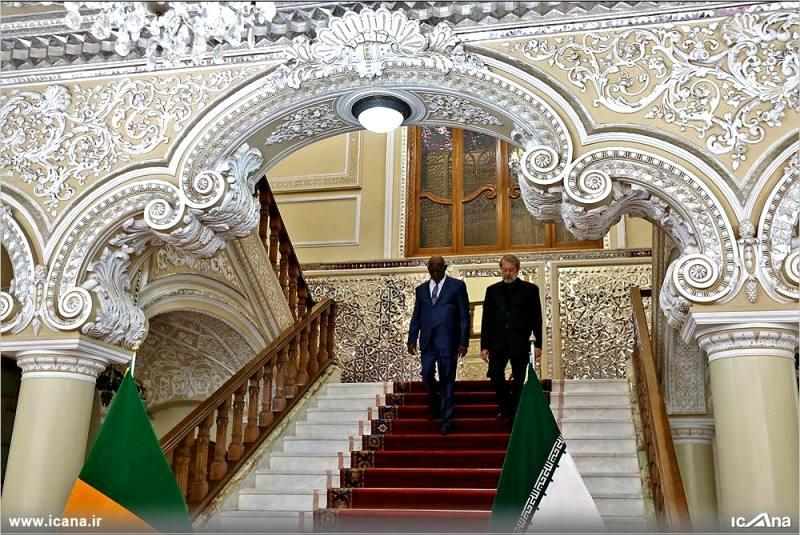 گزارش تصویری/ دکتر لاریجانی در نشست خبری مشترک با رئیس مجلس مالی