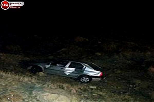 خودروی تندر به عمق حدود 10 متری دره سقوط کرد + تصاویر
