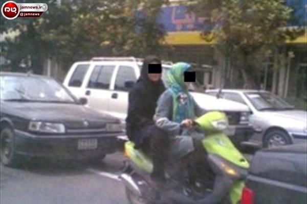 دو دختر موتورسوار که دستگیر شدند + عکس