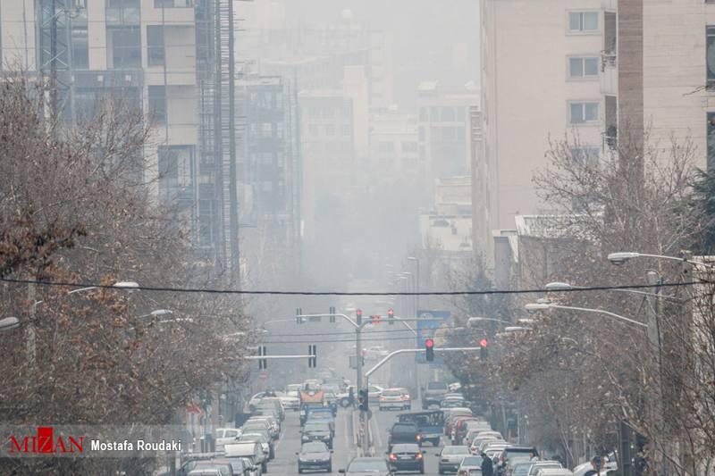 هوای تهران ناسالم است/ کاهش غلظت آلاینده ها