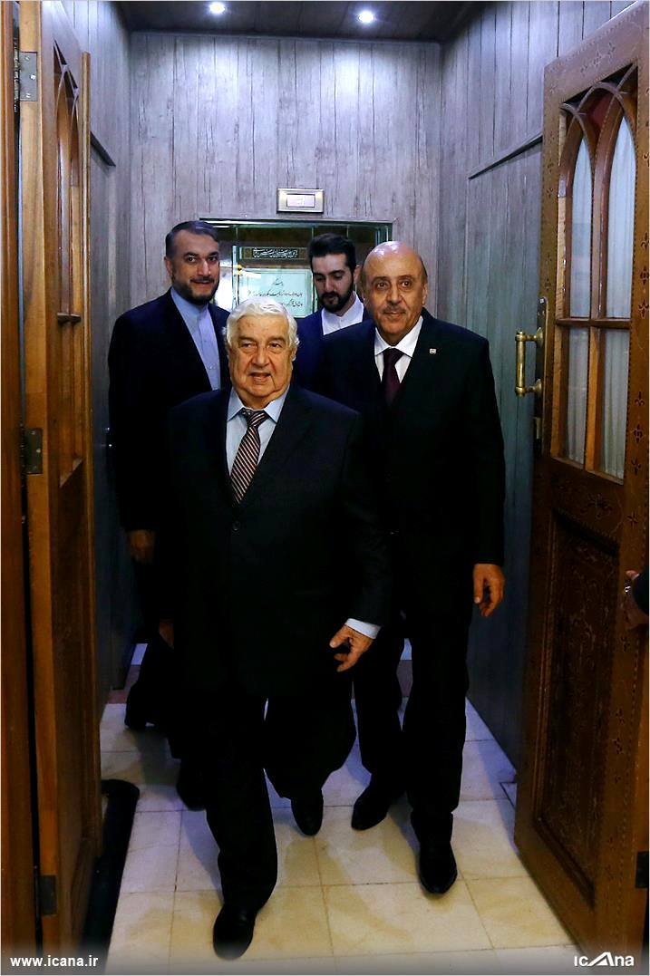 گزارش تصویری/ دیدار وزیر خارجه سوریه با دکتر لاریجانی