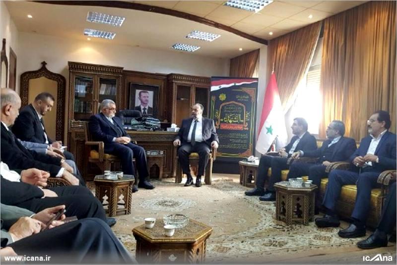 گزارش تصویری/ دیدار علاءالدین بروجردی و اعضای کمیسیون امنیت ملی و سیاست خارجی مجلس با وزیر اوقاف سوریه