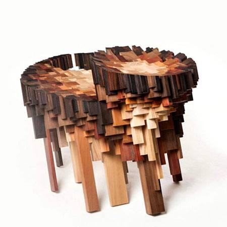 اخبار , اخبار گوناگون,تصاویر مبلمان با تکه های چوب,مبلمانی با تکه های چوب