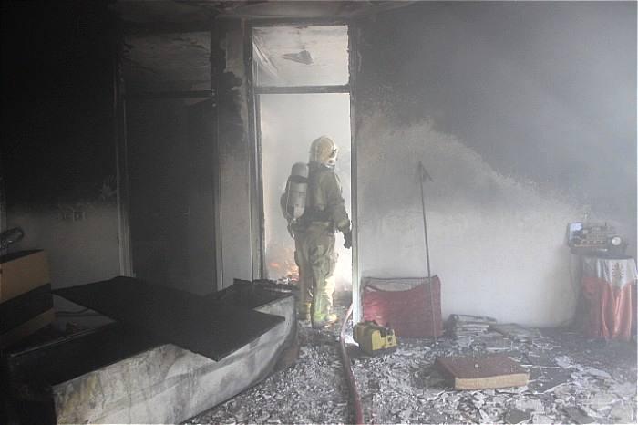 آتش سوزی گسترده یک منزل مسکونی درشرق تهران
