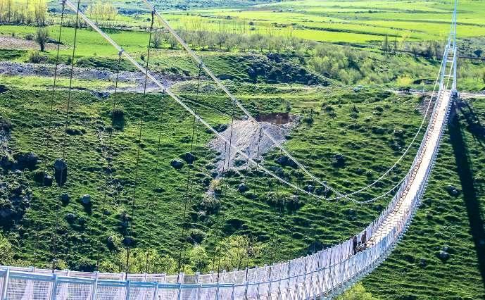 راه اندازی باغ پرندگان در طولانی ترین پل معلق خاورمیانه