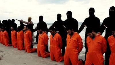 داعش در اقدامی فجیع افراد زیادی از مسیحیان مصری را سر برید.