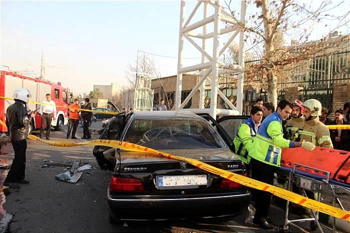 برخورد شدید دو خودرو سواری در شرق تهران